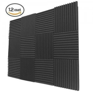 12 Pack- Acoustic Panels Studio Foam Wedges 1 X 12 X 12
