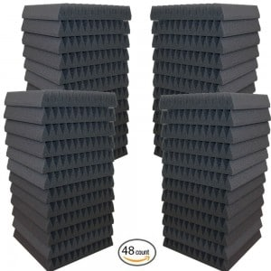 48 Pack- Acoustic Panels Studio Soundproofing Foam Wedges 2 X 12 X 12