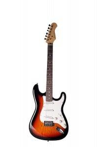 Diadem Electric Guitar Sunburst Color 39 with Gig Bag Case