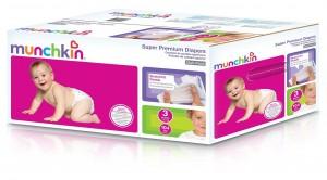 Munchkin Super Premium Diapers, Size 3Medium Ultra (16-28 Pounds), 104 Count