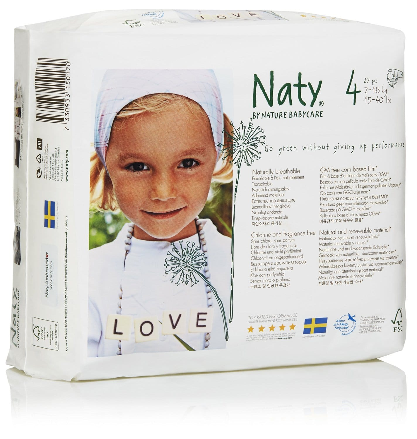 Nature Babycare Eco Diapers Size 4 108 count