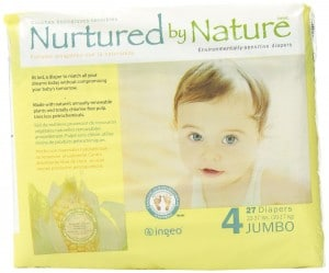 Nurtured by Nature Environmentally-Sensitive Diapers, Large Size 4, 108 Count