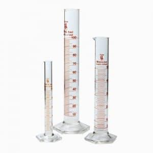 213C2 Karter Scientific Glass Graduated Cylinder 3 Piece Set 10, 50 & 100ml