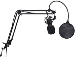 Anvo MK-R01 Condenser Microphone-Newest Professional Studio Broadcasting And Recording Condenser Microphone Kit With One Professional Condenser Microphone (Gold)
