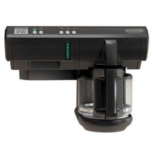 BLACK+DECKER SCM1000BD Space Maker 12-Cup Programmable Coffee Maker, Black