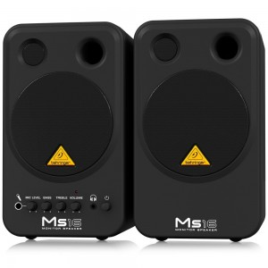 Behringer MS16 Compact Stereo Speaker System - Black