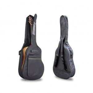 Black 41 Acoustic Guitar Double Straps Padded Guitar Soft Case Cover Gig Bag Backpack