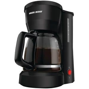 Black & Decker DCM600B 5-Cup Coffeemaker, Black