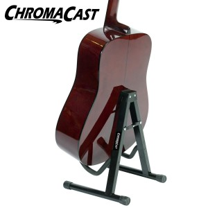 ChromaCast CC-MINIGS Universal Folding Guitar Stand with Secure Lock