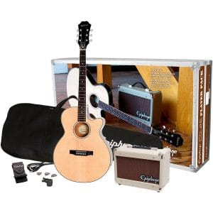 Epiphone PR-4E AcousticElectric Guitar Player Package
