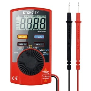 Etekcity MSR-P600 Digital Multimeter DMM Multi Tester with Capacitance Test, Red