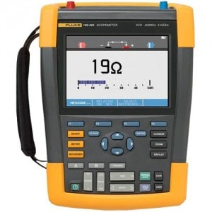 Fluke 190-102AM 2 Channel LCD Color ScopeMeter Oscilloscope, 100 MHz Bandwidth, 3.5ns Rise time