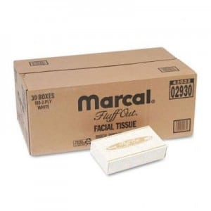 Marcal 2930 Fluff Out Facial Tissue 100-Pack (Case of 30)