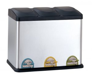 Organize It All Stainless Steel Step-On 12-Gallon Recycle Bin (4903)
