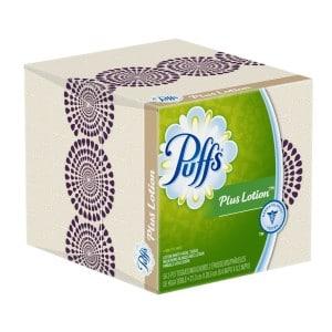 Puffs Plus Lotion Facial Tissues, 24 Cube Boxes (56 Tissues Per Box)