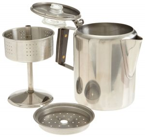 Rapid Brew Stainless Steel Stovetop Coffee Percolator, 2-3 cup