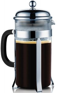 SterlingPro French Coffee Press --8 Cup4 Mug (1 liter, 34 oz), Chrome