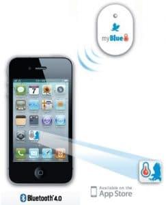 WeatherHawk myBlue-T Bluetooth Temperature Sensor, Oval, White