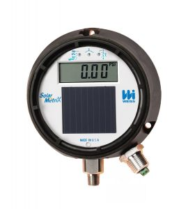 Weiss Instruments DUGY3 Light Powered Digital Process Pressure Gauge with 4-20MA Transmitter, Stainless Steel 304 Wetted Parts, LCD Display, 4-12 Dial, 0-200 psi Range, 0.5% Accuracy, 14 Male NPT Connection,