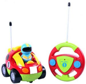 Cartoon RC Race Car Radio Control Toy for Toddlers by Liberty Imports