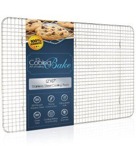 CoolingBake 100% Stainless Steel Cooling Rack fits Half Sheet Baking Pan