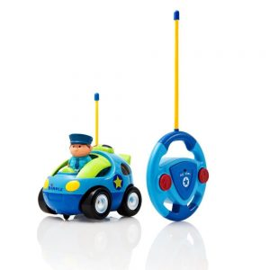 Dimple Cartoon Remote Control Police Car with Music and Lights