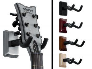 Gator Cases GFW-GTR-HNGRSCH Frameworks Wall Mounted Guitar Hanger with Satin Chrome Mounting Plate