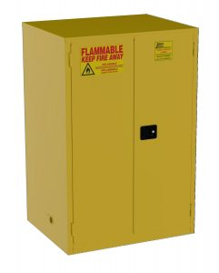 Jamco Products Inc BM90-YP Safety Flammable Cabinet, Two Door, Manual Close, 43-Inch x 34-Inch x 65-Inch