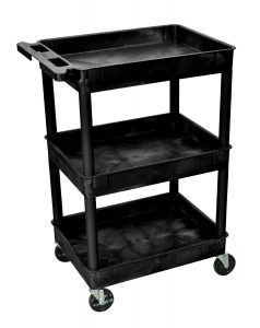 Luxor STC111 40.5 Automotive Utility Cart with 3 Shelves