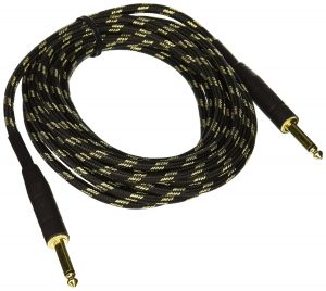 Monoprice 601415 15-Feet Cloth Series 14-Inch TS Male 20AWG Instrument Cable