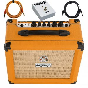 Orange Crush 20 Amp 20w CR20 Guitar Combo Amplifier Footswitch Cable Bundle