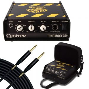 585e21b962 Quilter Labs Tone Block 200 Guitar Amp Head with Deluxe Case & 25 ft Mogami  Gold Instrument Cable