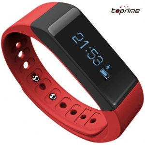 Toprime® Fitness Tracker Wearable Waterproof Smart Band with Multi-Functions Red