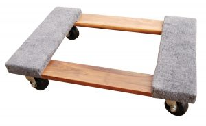 Vestil HDOC-1624-9 Hardwood Dolly with Carpet End, 900 lbs Capacity