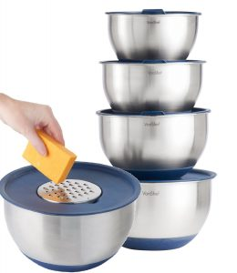 VonShef Professional 5 Piece Mixing Bowl Set