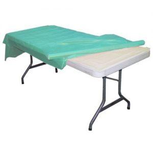 Aqua plastic table roll