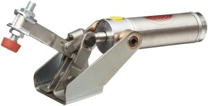 DE-STA-CO 812-U Pneumatic Hold-Down Clamp with U-Bar, 150 lb Hold Capacity