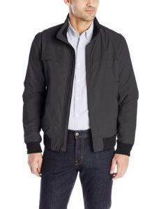 Dockers Men's Micro Twill Golf Bomber Jacket