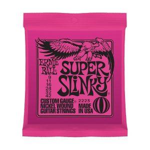Ernie Ball 2223 Nickel Super Slinky Pink Electric Guitar Strings 3 Pack