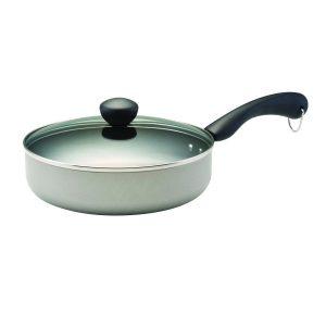 Farberware Dishwasher Safe Nonstick Covered Saute Pan, 2.75 quart, Silver