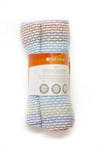 Full Circle Tidy Organic Dish Cloths, Set of 3, Multi