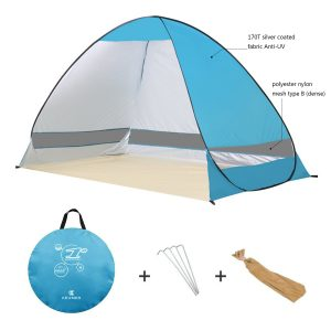 G4Free Outdoor Automatic Pop up Instant Portable Cabana Beach Tent 2-3 Person Camping Fishing Hiking Picnicing Anti UV Beach Tent Beach Shelter, Sets up in Seconds