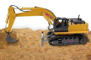 Ginzick 11 Ch Full Functional Excavator, Electric Rc Remote Control Construction Tractor