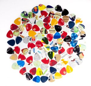 Guitar Picks from Recycled Credit & Gift Cards - 100 Pack Variety