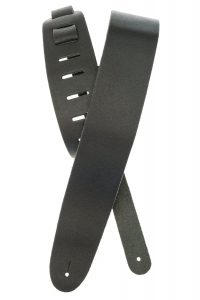 Planet Waves Classic Leather Guitar Strap, Black