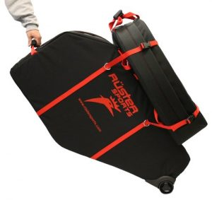 Ruster Sports Armored Hen House Bicycle Travel Case, BlackRed