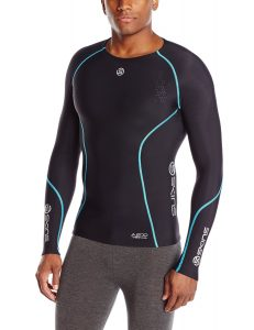 SKINS Men's A200 Thermal Long Sleeve Compression Top with Round Neck