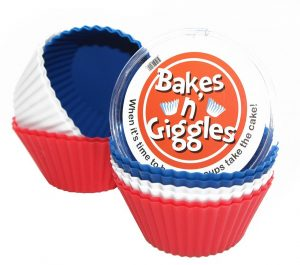 Set of 12 Premium Silicone Baking Cups Reusable Muffin Molds Cupcake Liners