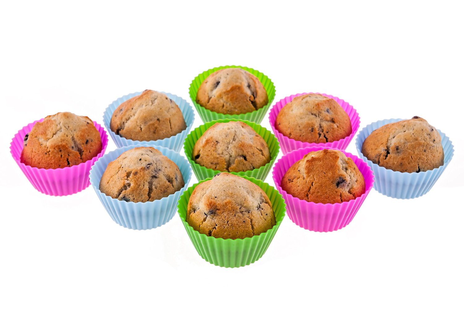 Muffins in silicone tins on sour cream: a recipe with photos 14
