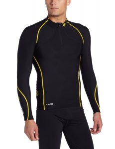 Skins A200 Men's Thermal Long Sleeve Compression Top with Zip Mock Neck
